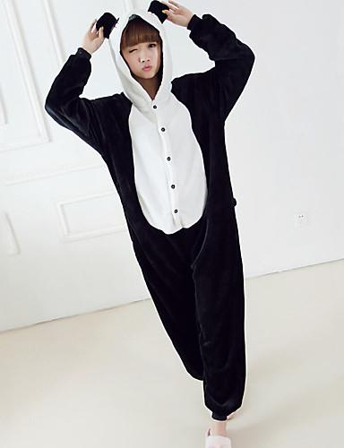 Mulheres Pijamas, Grossa Retalhos Misto de Algodão Tosão Preto