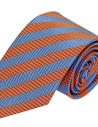 Masculino Gravata Azul,Vintage / Festa / Trabalho / Casual Listrado Poliéster Todas as Estações