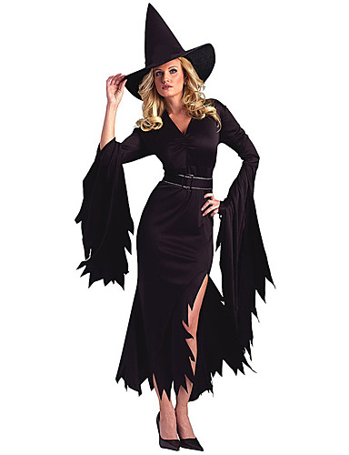 billige Cosplay og kostumer-Engel & Djævel Cosplay Kostumer Halloween Festival / Højtider Halloween Kostumer Sort Rød Patchwork