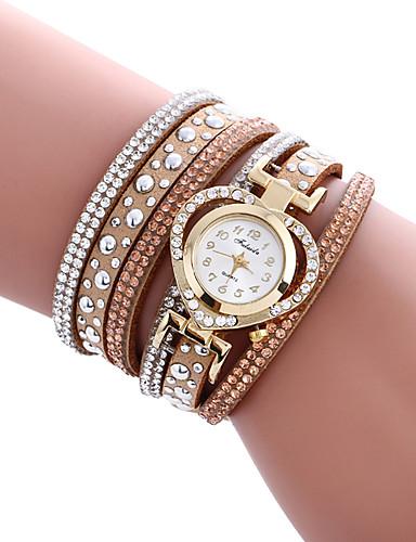 Mulheres Quartzo Bracele Relógio / Venda imperdível PU Banda Heart Shape Casual Elegant Fashion Legal Preta Branco Azul Vermelho Bege