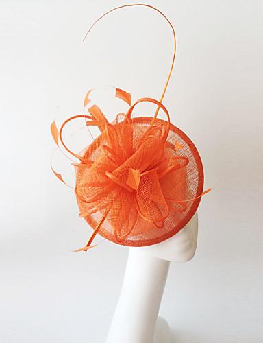 abordables Chapeau & coiffure-Lin / Plume Fascinators avec 1 Mariage / Occasion spéciale Casque