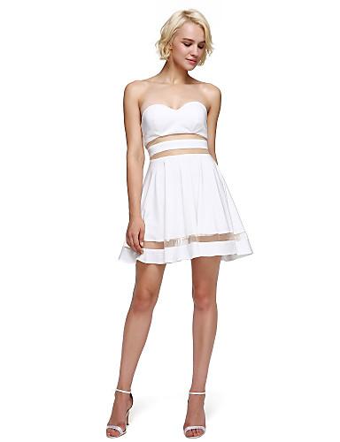 A-Linie Sweetheart Kurz / Mini Jersey Cocktailparty / Abschlussball / Abiball Kleid mit Plissee durch TS Couture®
