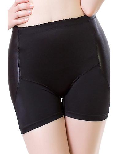 Nylon-Vrouw Corrigerende slip Boxer shorts-Sexy Patchwork