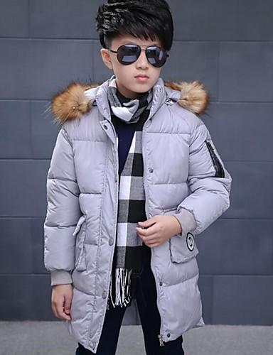 男の子 カジュアル/普段着 ゼブラプリント / 刺繍 ポリエステル ダウン&コットンキルティング 冬 長袖