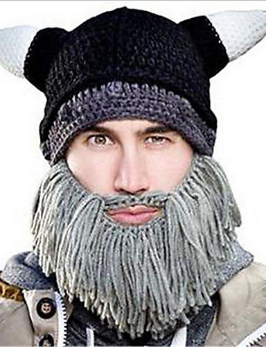 男性用 ヴィンテージ カジュアル デニム, パッチワーク - ビーニー帽