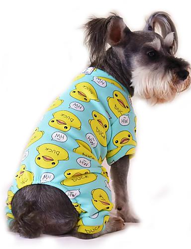 Katt Hund Jumpsuits Pyjamas Hundkläder Tecknat Gul Röd Blå Rosa Blå-Gul  Cotton Kostym För husdjur Herr Dam Gulligt Ledigt vardag dc1d04a3eddf7