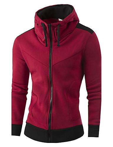 男性用 リネン パーカジャケット - カラーブロック スタンド
