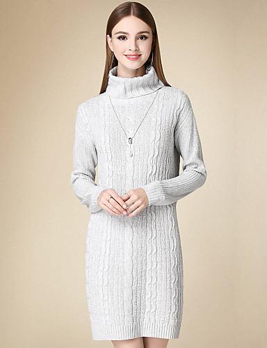 77c1690323e3 Γυναικείο Καθημερινά Απλό Πλεκτά Φόρεμα