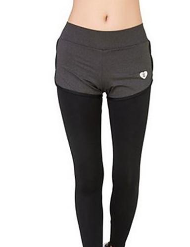 女性用 ミッドライズ 伸縮性あり ストレート スウェットパンツ パンツ,コットン ソリッド オールシーズン