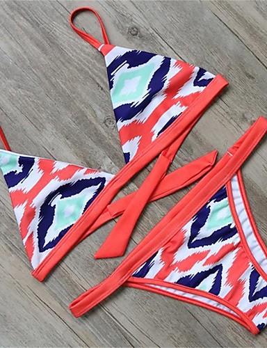 Kvinner Blomstret Bikini Polyester