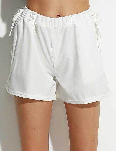 Kvinders Simpel / Street Shorts Bukser Mikroelastisk Bomuld