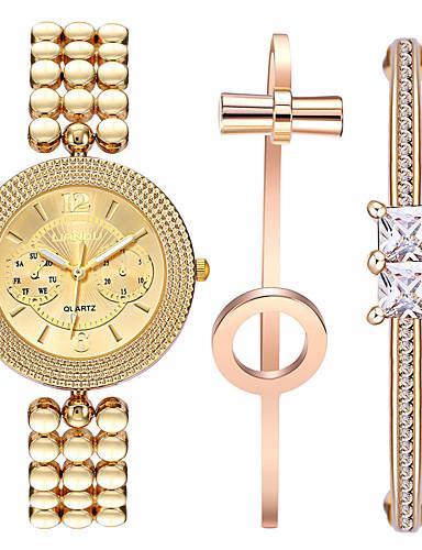 Mulheres Relógio de Pulso Impermeável / Legal / Resistente ao Choque Aço Inoxidável Banda Vintage / Casual / Boêmio Dourada