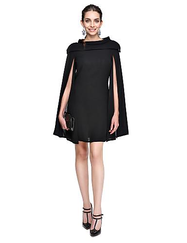 27b7b0db72c Γραμμή Α Με Κόσμημα Κοντό / Μίνι Σιφόν Μικρό Μαύρο Φόρεμα / Στυλ Διασήμων  Κοκτέιλ Πάρτι / Χοροεσπερίδα Φόρεμα με Πλισέ με TS Couture®