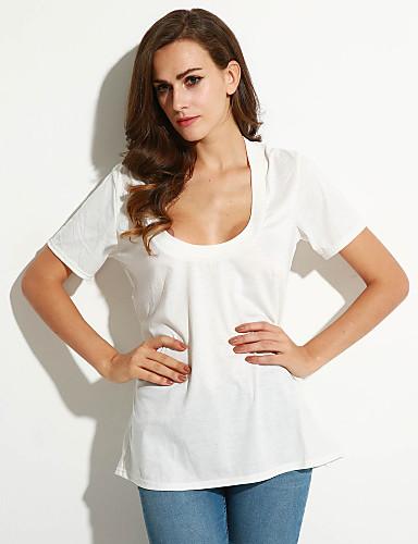 Dames Standaard T-shirt Effen