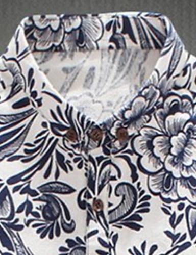 Print / Cvjetni print Muška Majica Ležerne prilike,Pamuk Kratkih rukava Više boja