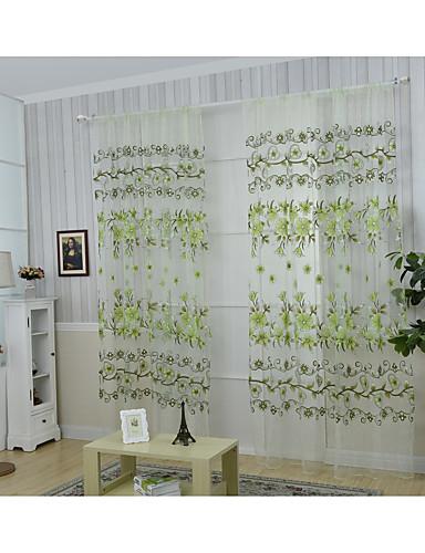 """billige Egendefinerte gardiner-Vannavstøtende gardiner gardiner Stue Et panel 39WX 79 """"L Rødstrupe-egg Blå"""