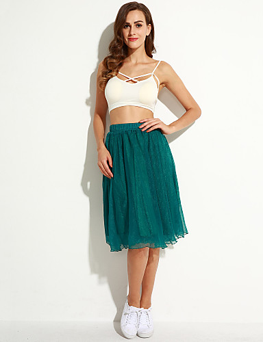 Women's Beach A Line Skirts - Solid Colored