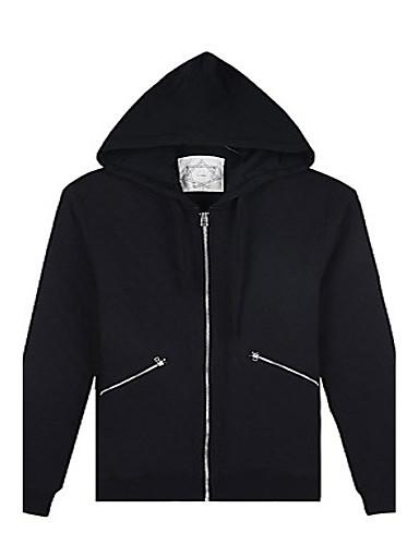 Trenduality® 남성 라운드 넥 긴 소매 까마귀 & 운동복 블랙 페이드 - ZZ031