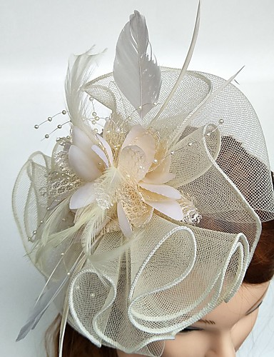 abordables Chapeau & coiffure-Tulle / Plume Fascinators avec 1 Mariage / Occasion spéciale Casque
