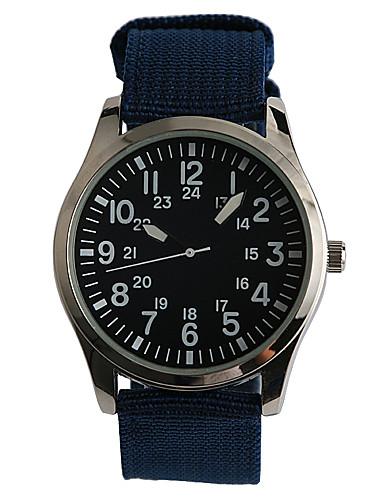 Homens Quartzo Relógio de Pulso / Relógio Casual Tecido Banda Casual Fashion Azul Marinho