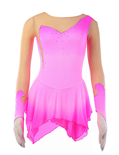 abordables Robe de Patinage-Femme Manches Longues Sport Jupes Patinage / Velours / Velours