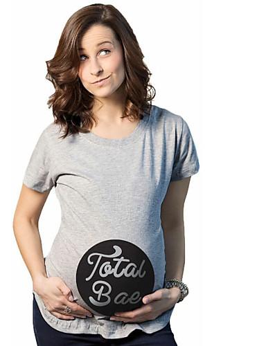 女性用 Tシャツ ストリートファッション ソリッド