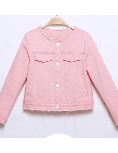 Mädchen Anzug & Blazer Lässig/Alltäglich einfarbig Baumwolle Herbst