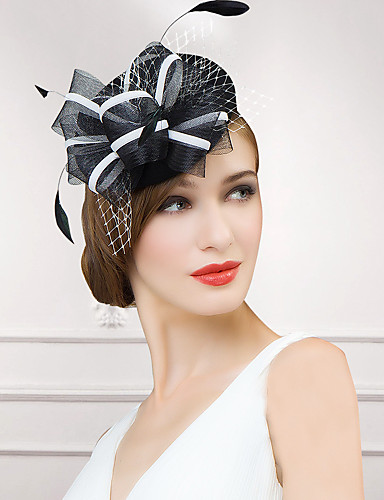 billige Hatte & Imponeringer-Ull / Fjær / Nett Kentucky Derby Hat / fascinators / Hatter med 1 Bryllup / Spesiell Leilighet / Avslappet Hodeplagg
