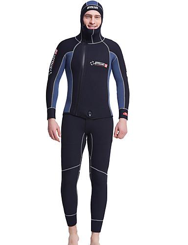 baratos Roupas de Mergulho & Camisas de Proteção-Dive&Sail Homens Macacão de Mergulho Longo 5mm Elastano Neoprene Roupas de Mergulho Prova-de-Água Térmico / Quente Proteção Solar UV Manga Longa Zip posteriore 2 Peças - Natação Mergulho Surfe