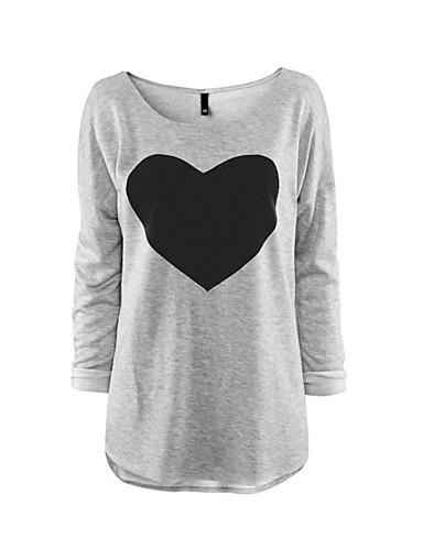 Mujer Estampado - Camiseta Poliéster