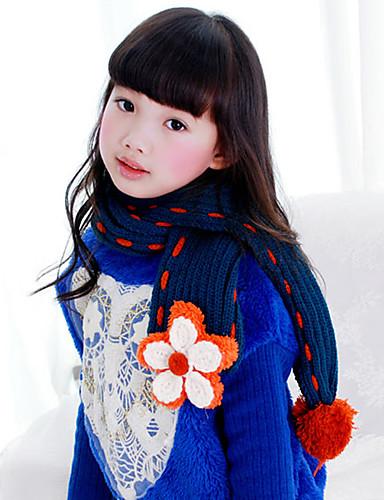 Mädchen Schals Winter Strickware Blau Rot