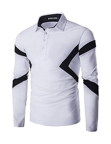 Herrn Solide Einfach Lässig/Alltäglich T-shirt,Rundhalsausschnitt Frühling Herbst Langarm Baumwolle Mittel