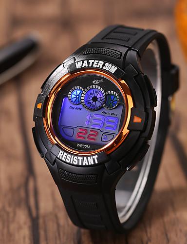 Herrn Sportuhr Armbanduhr Digitaluhr digital Silikon Band Schwarz