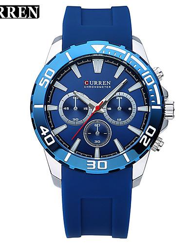Hombre Reloj Deportivo / Reloj de Moda / Reloj de Vestir Cuero Auténtico Banda Encanto / Lujo / Casual Múltiples Colores