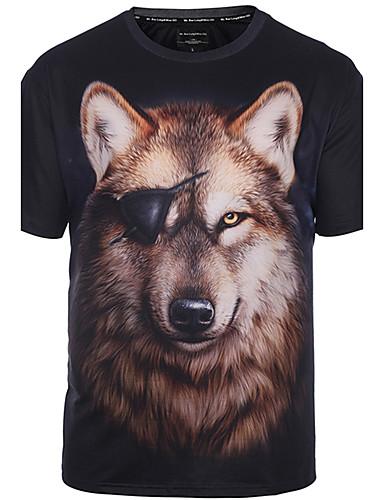 5f28b669af3 Men s Club Boho   Street chic   Punk   Gothic Plus Size T-shirt - Animal  Wolf