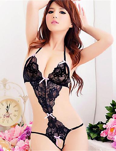 Damen Spitze Übergrössen Dessous / Passende Bralettes / Besonders sexy Nachtwäsche - Rückenfrei