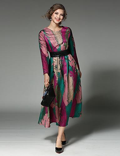 c7b6fdd3f7ce Γυναικεία Αργίες   Εξόδου Βίντατζ   Κομψό στυλ street   Εκλεπτυσμένο  Βαμβάκι Λεπτό Swing Φόρεμα - Patchwork Μίντι