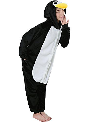 d980f8665a Adults  Cosplay Costume Halloween Props Kigurumi Pajamas Penguin Onesie  Pajamas Flannel Toison Black   White Cosplay For Men and Women Animal  Sleepwear ...