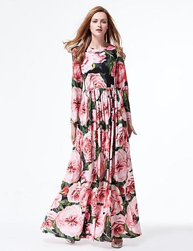 Fofo balanço Vestido Floral Longo