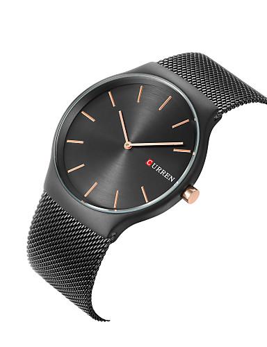 CURREN Hombre Reloj de Moda Reloj de Vestir Reloj de Pulsera Cuarzo Acero  Inoxidable Múltiples Colores 47855beb8a1a
