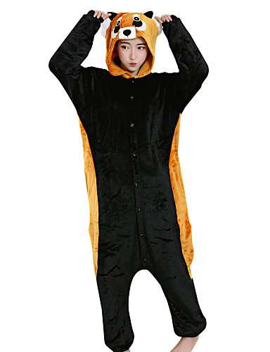 695f9dbe01c1 Adults  Kigurumi Pajamas Cartoon Raccoon Onesie Pajamas Velvet Mink Orange  Cosplay For Men and Women Animal Sleepwear Cartoon Festival   Holiday  Costumes