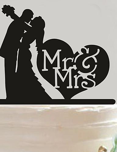كعكة توبر غير مخصص قلوب كلاسيكي زوجين أكريليك الذكرى دش العرسان عرس أسودموضوع الحديقة موضوع آسيوي موضوع زهري موضوع فراشة موضوع كلاسيكي