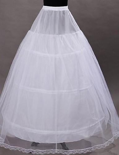 ieftine Jupon de Nuntă-Nuntă Ocazie specială Cămăși de noapte Poliester Tulle Lungime până la gambe A-Line Slip Jupă Rochie de Bal cu