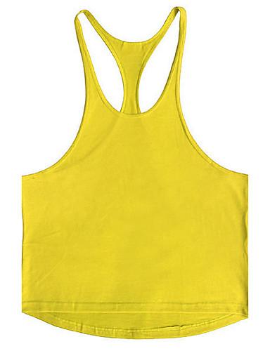 رجالي قطن كنزة رياضي Active / أناقة الشارع لون سادة, الرياضة / شاطئ / بدون كم
