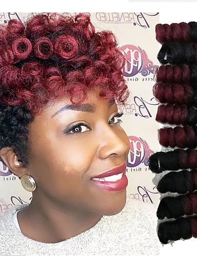 povoljno Ljepota i kosa-Kosa koja se plete Bouncy Curl / Saniya Curl Twist pletenice / Curlkalon kose Sintentička kosa 20 korijena / pakiranja Sušilo za pletenice Ombre 10-20 inch
