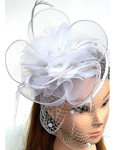 abordables Chapeau & coiffure-Tulle / Plume / Filet Kentucky Derby Hat / Fascinators / Chapeaux avec 1 Mariage / Occasion spéciale Casque