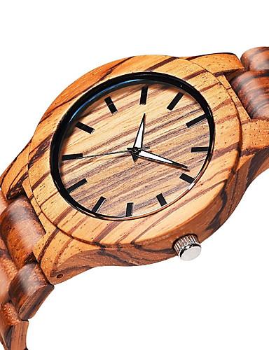 للرجال ساعة المعصم كوارتز خشبي الخشب فرقة مماثل أنيق البيج