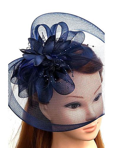 abordables Chapeau & coiffure-Tulle / Plume / Filet Fascinators / Chapeaux / Coiffure avec Fleur 1pc Mariage / Occasion spéciale Casque