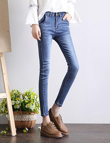 ca23e85b2 modelo real tiro 2017 nova primavera retro calça jeans meia-calça preta  sexo feminino calças