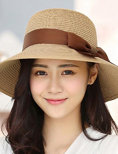Mujer Sombrero para el sol - Chic de Calle Un Color   Verano 5751547 2019 –   13.64 8e17d578bfc